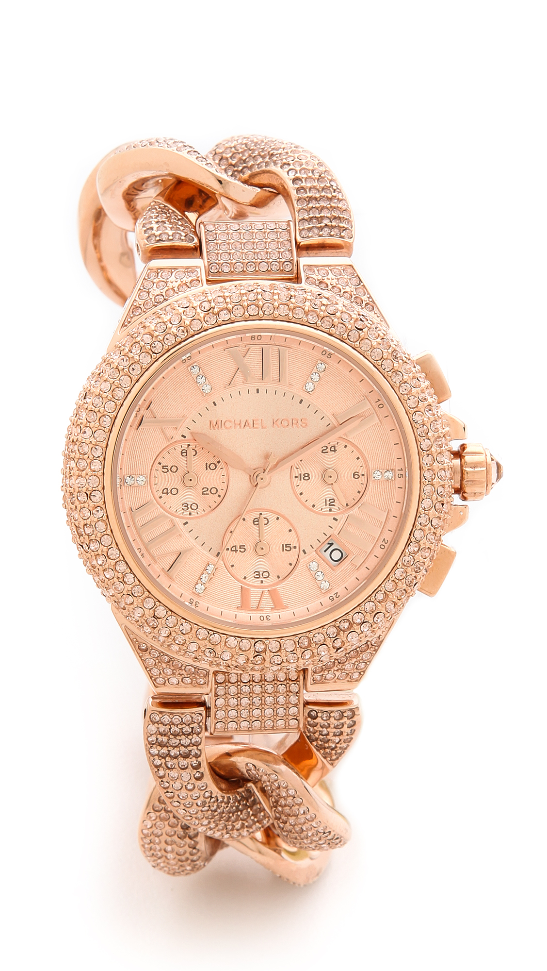 Permalink to Michael Kors Camille Rose Gold Diamond Watch