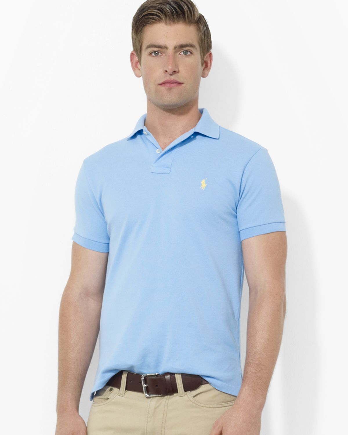 Ralph lauren Polo Classic-fit Mesh Polo Shirt in Blue for Men (Chatham Blue