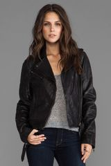 Soia & Kyo Janelle Leather Jacket in Black - Lyst