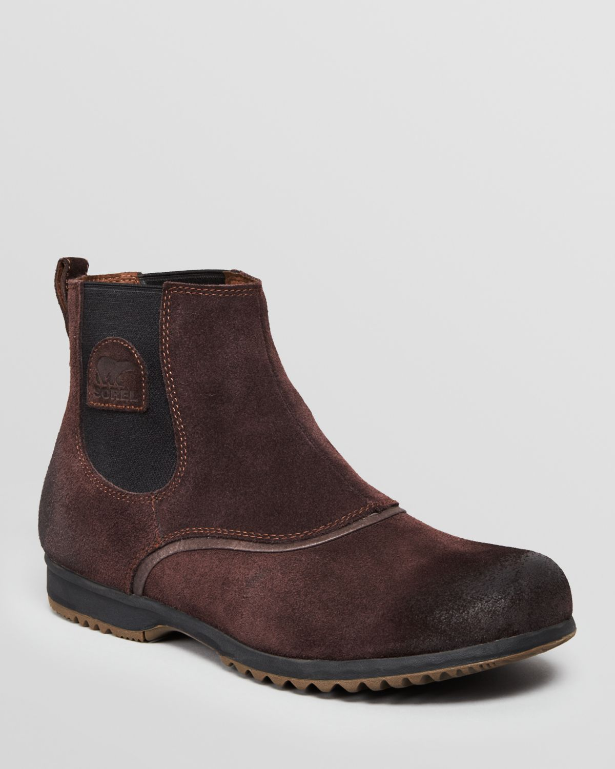 Lyst Sorel Greely Suede Chelsea Boots In Red For Men
