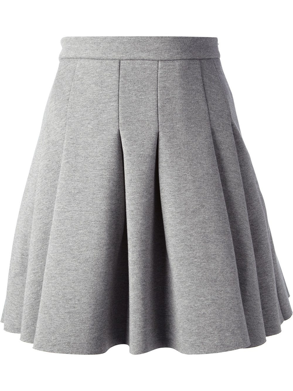 t by wang pleated skirt in gray grey lyst