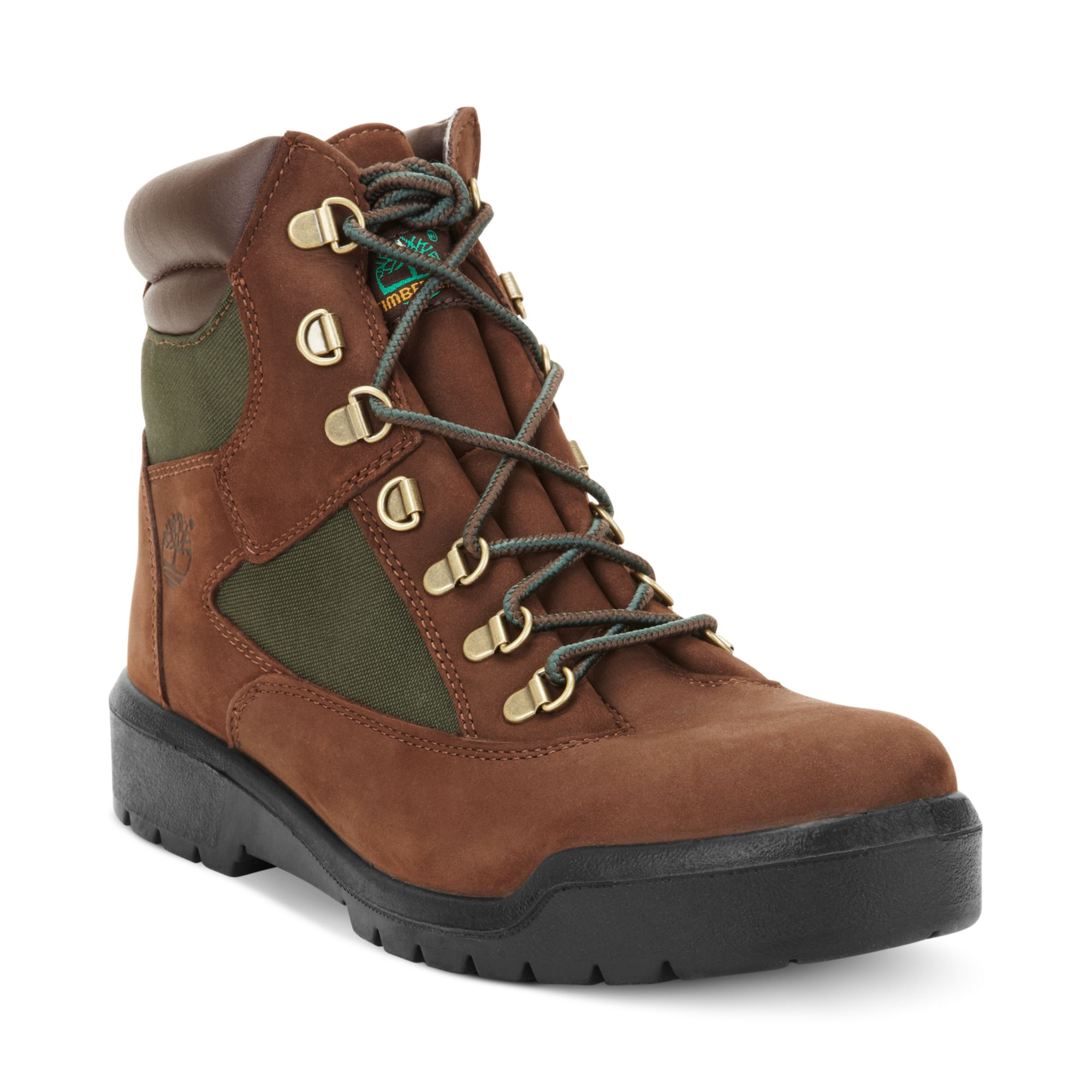 timberland icon 6 waterproof field boots in brown for