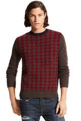Tommy Hilfiger Houndstooth Crew Neck Sweater - Lyst