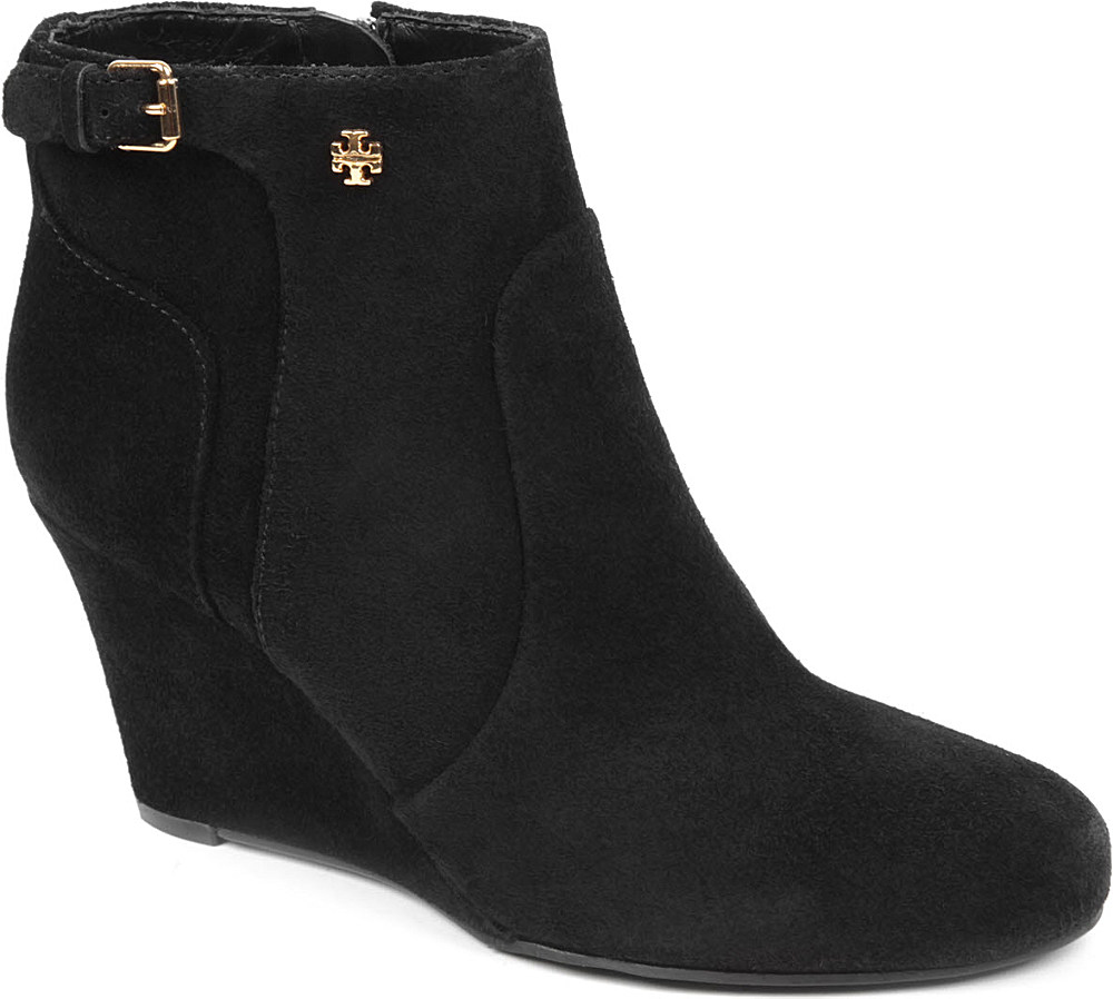burch milan suede ankle boots in black lyst