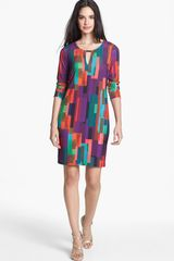 Trina Turk Neva Print Jersey Shift Dress - Lyst