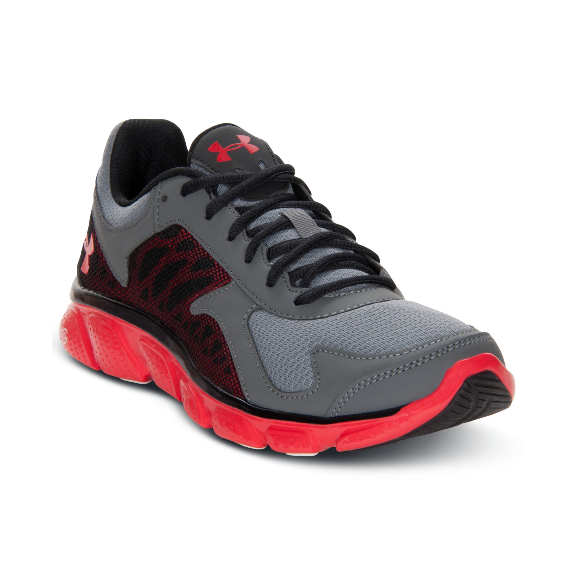 Under Armour Boys Micro G Skulpt Running Shoes in Gray (GRAPHITE/STEEL