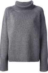 Vanessa Bruno Oversized Turtle Neck Sweater - Lyst