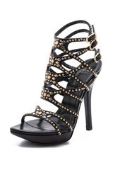 Versace Studded Strappy Sandals - Lyst