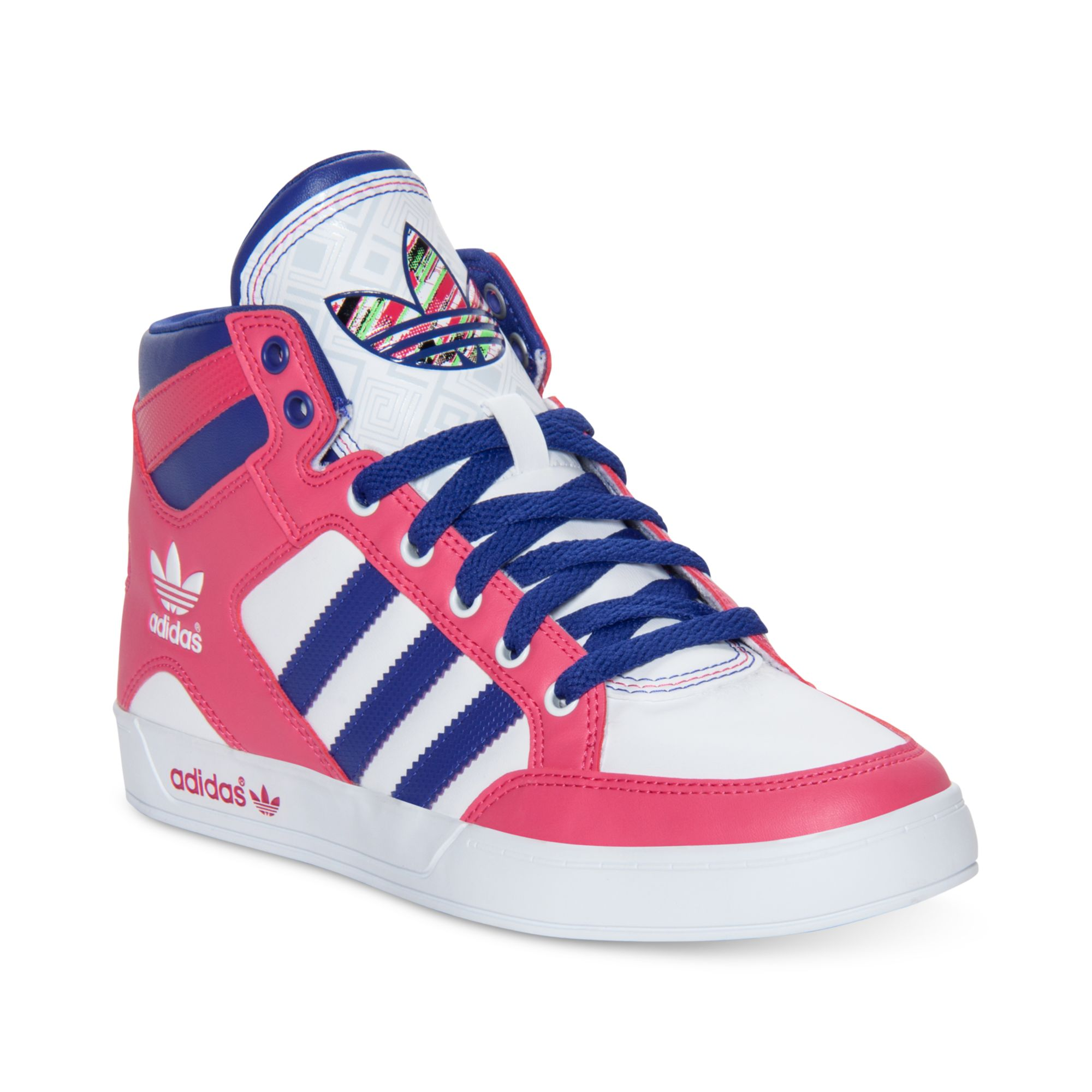Lyst - adidas Hardcourt Hi Casual Sneakers in Pink c18e3ba89ab32