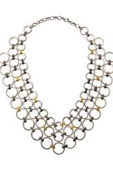 Gurhan Hoopla Chain Mail Bib Necklace - Lyst