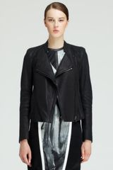 Helmut Lang Wither Washed Leather Jacket - Lyst