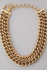 Lee Angel Doublerow Curb Chain Necklace - Lyst