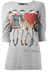 Love Moschino Illustrative Print Tshirt - Lyst