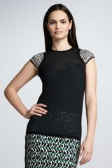 M Missoni Space Dye Mesh Top - Lyst