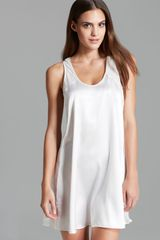 Oscar de la Renta Sweet Poetry Short Nightgown - Lyst