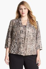 Alex Evenings Print Twinset - Lyst