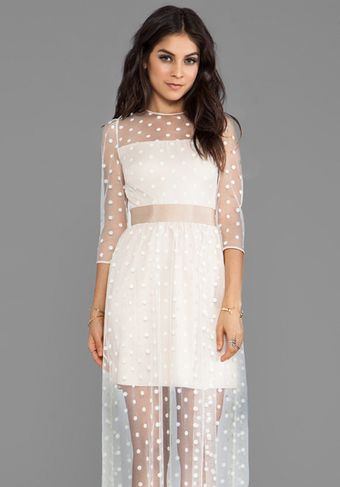 Alice By Temperley Celia Long Dress in Ivory - Lyst