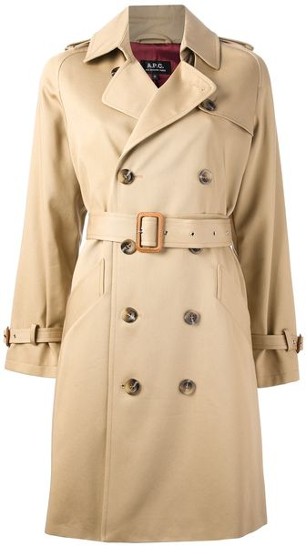 A.P.C. Trench Coat - Lyst