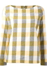 A.P.C. Check Top - Lyst