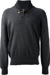 Hackett Shawl Collar Sweater - Lyst