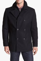 Kenneth Cole Reaction Melton Peacoat - Lyst
