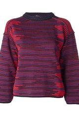 M Missoni Striped Sweater - Lyst