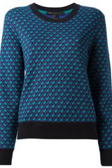 Marc By Marc Jacobs Luna Jacquard Knit Sweater - Lyst