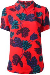Marc By Marc Jacobs Printed Short Sleeve Blouse - Lyst
