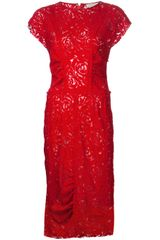 Nina Ricci Lace Sleeveless Dress - Lyst