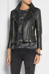 Oak Rider Leather Biker Jacket in Black - Lyst