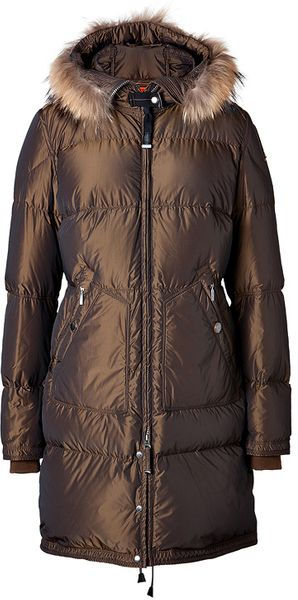Parajumpers Lightweight Long Bear Parka in Tobacco - Lyst
