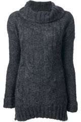 Patrizia Pepe Roll Neck Sweater - Lyst