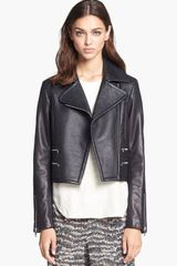 Rag & Bone Hudson Deerskin Lambskin Leather Moto Jacket - Lyst