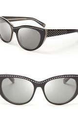 Rebecca Minkoff Stanton Studded Cat Eye Sunglasses - Lyst