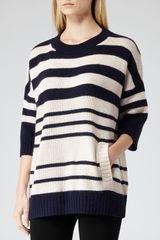 Reiss Lluela Stripe Striped Chunky Jumper
