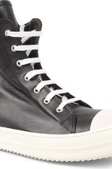Rick Owens Ramones Zip Hightop Trainers - Lyst