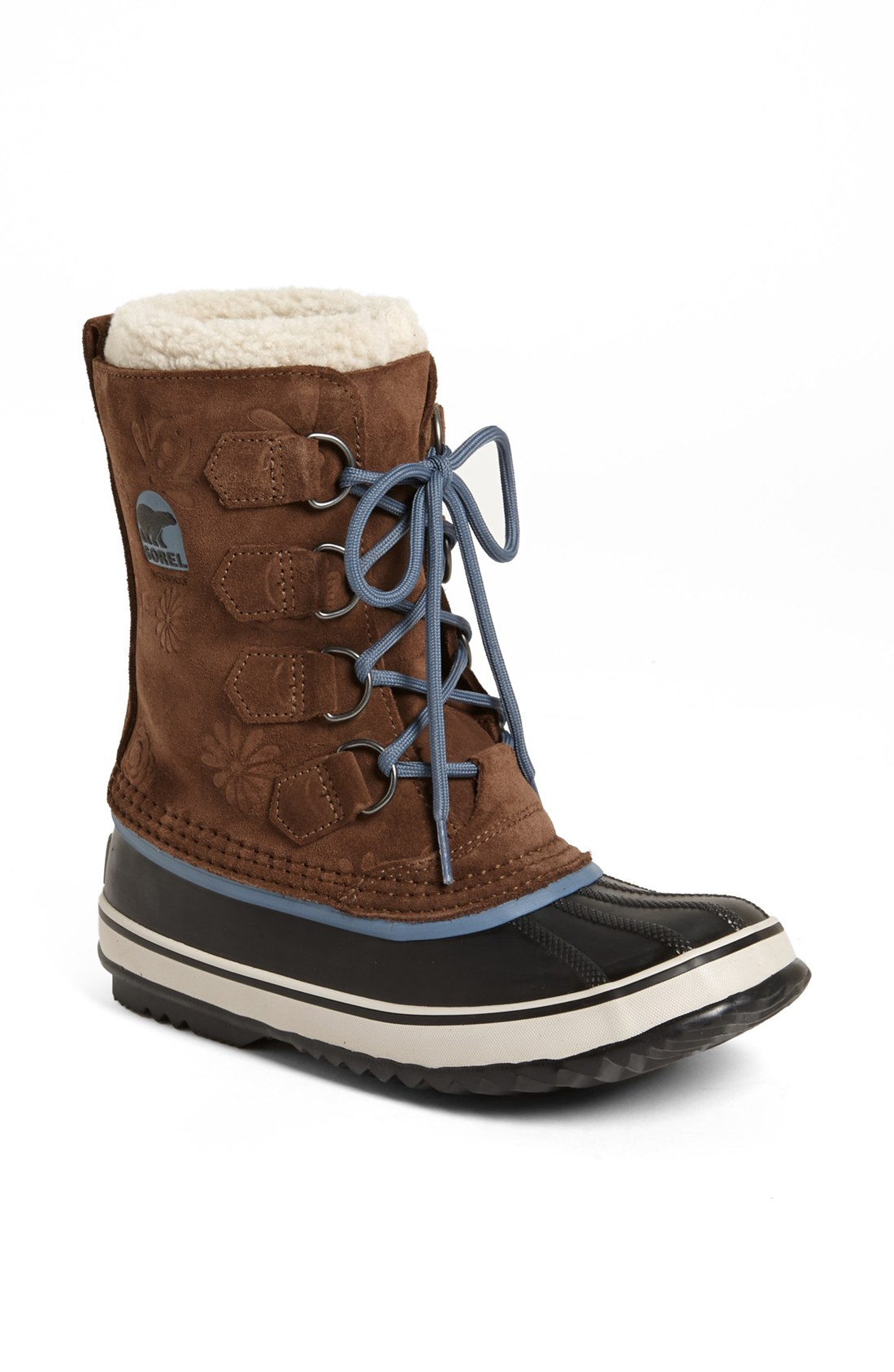 sorel pac graphic 13 waterproof snow boot in brown