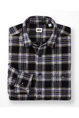 Uniqlo Flannel Checked Long Sleeve Shirt K - Lyst