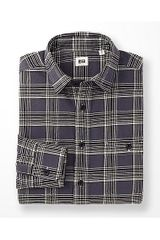 Uniqlo Flannel Checked Long Sleeve Shirt H - Lyst