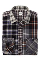 Uniqlo Flannel Checked Long Sleeve Shirt - Lyst