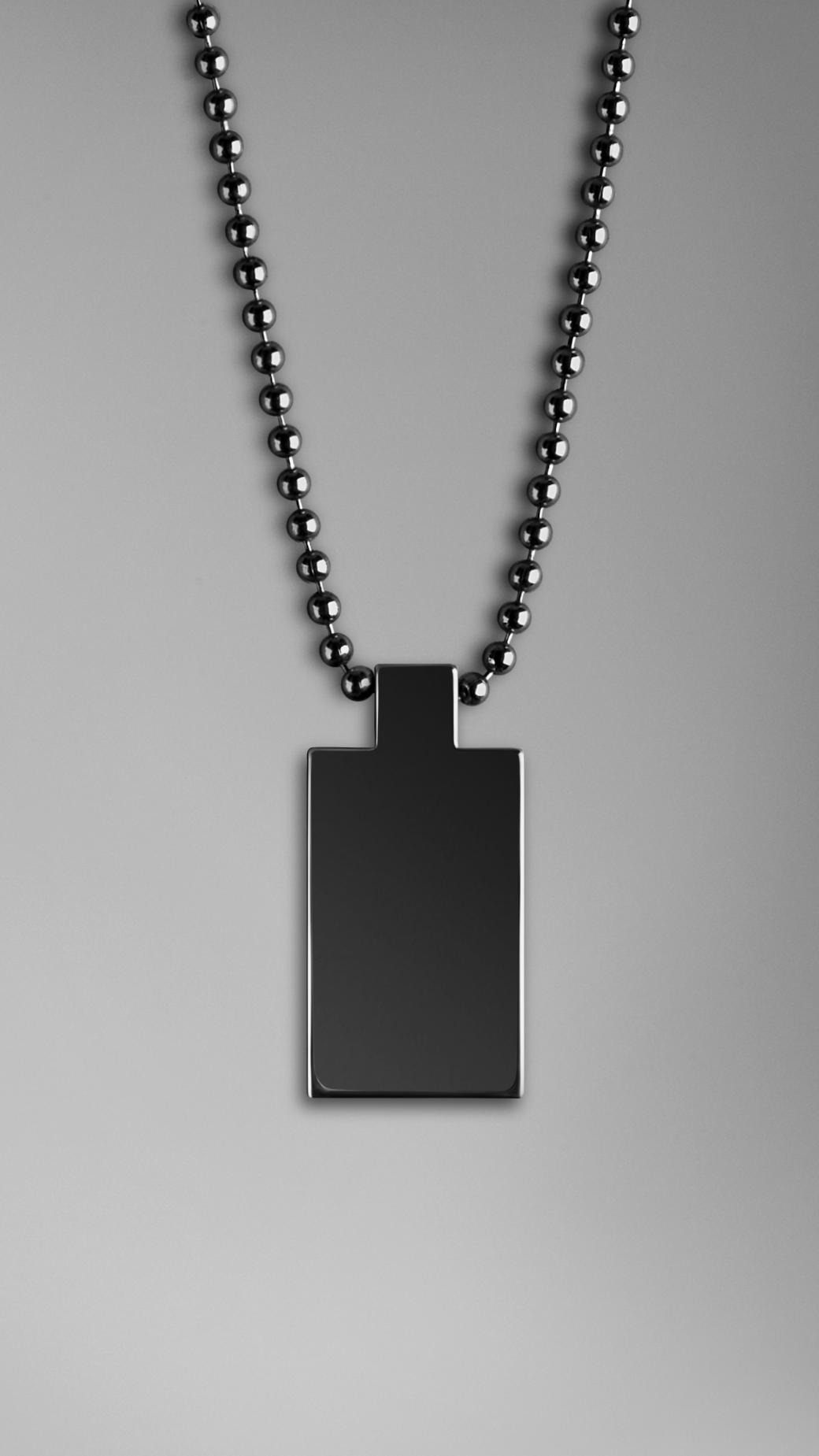 burberry brit brit rhythm necklace in brown for lyst