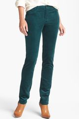 Christopher Blue Slim Leg Corduroy Pants - Lyst