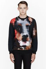 Givenchy Black Digital Doberman Print Sweatshirt - Lyst