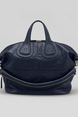 Givenchy Nightingale Medium Satchel Bag Navy - Lyst