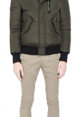 Mackage Harveyf3 Army Down Bomber Jacket with Fur Trimmed Hood - Lyst