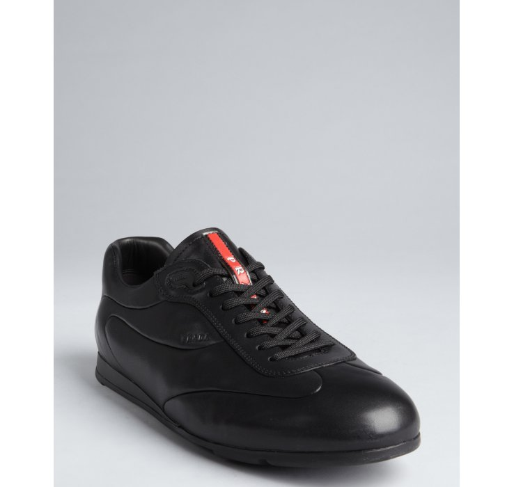 Prada Sport Low Top Lace-Up Sneakers