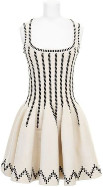 White Alaia Dress Alaa Dress in White