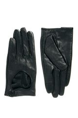 Cheap Monday Asos Leather Touch Screen Heart Cut Out Gloves - Lyst