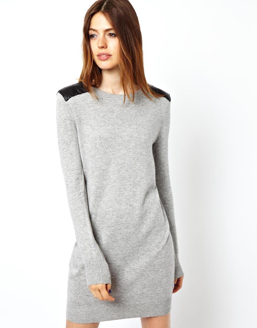 Asos lace insert jumper dress