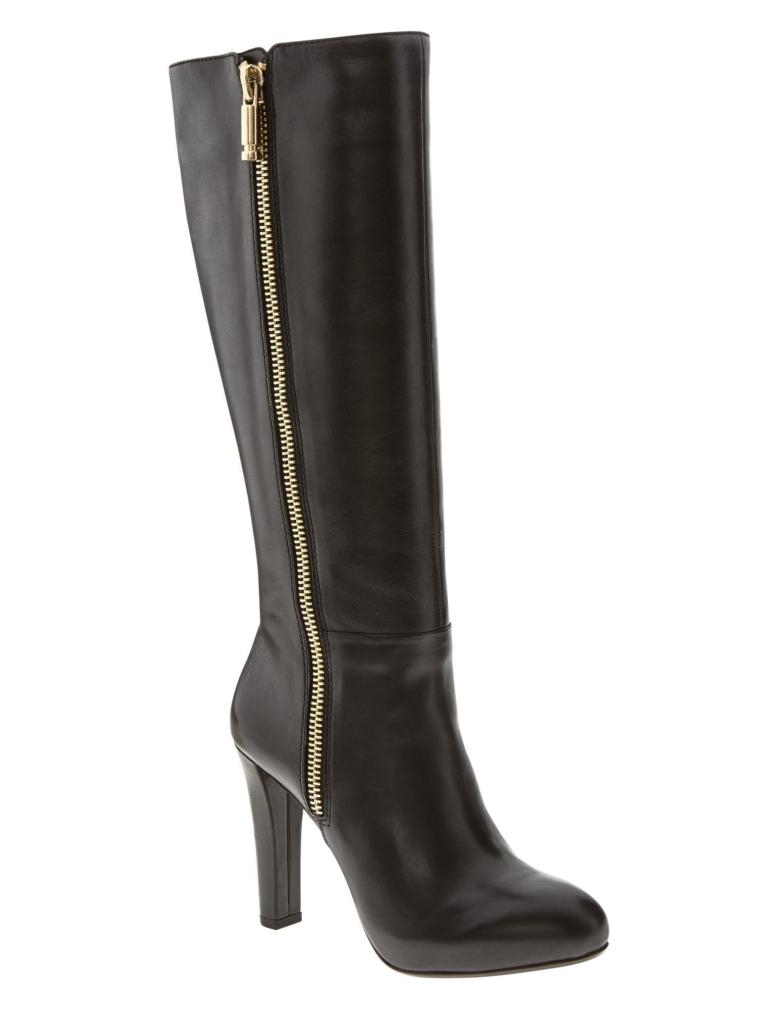 banana republic vitah zip boot black in black lyst